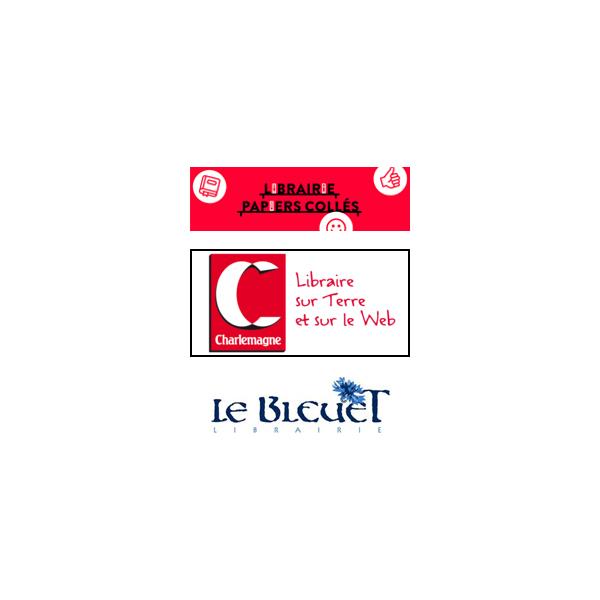 Librairies : Charlemagne et Papiers collés (83), Le Bleuet (04)